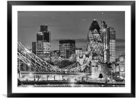 The City Of London BW, Framed Mounted Print