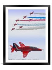 The Red Arrows - Farnborough 2012, Framed Mounted Print
