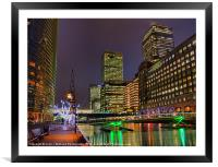 Canary Wharf - London - 3, Framed Mounted Print