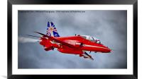 Red Arrow So Low ! - Farnborough 2014, Framed Mounted Print