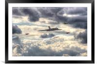 Avro Vulcan And The Gnat Display Team Dunsfold 1, Framed Mounted Print