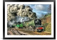West Country Class Wadebridge Departs, Framed Mounted Print