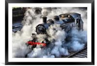 41312 Raises Steam 1, Framed Mounted Print