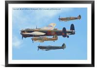 The Battle Of Britain Memorial Flight - RIAT 3, Framed Mounted Print