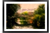 Norwich Bridge , Framed Mounted Print