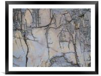 Kimmeridge Rocks 1, Framed Mounted Print