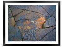 Kimmeridge Rocks 2, Framed Mounted Print