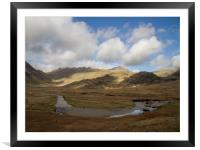 Sky, Mountains and River in the South West Lake Di, Framed Mounted Print