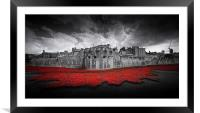 Tower of London Remembers. , Framed Mounted Print