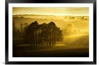 The Downs, Framed Mounted Print
