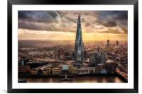 London from the Sky Garden, Framed Mounted Print