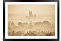 Canterbury Through The Mist, Framed Mounted Print