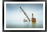 Sunken crane, Framed Mounted Print
