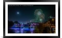 Glasgow Fireworks, Framed Mounted Print