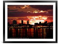 Angry Sunset, Framed Mounted Print