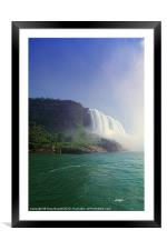 Falls Of The Mist, Framed Mounted Print