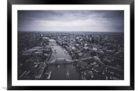 Londons Skyline from the Air, Framed Mounted Print