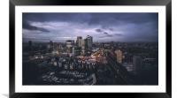 Canary Wharf at dawn, Framed Mounted Print