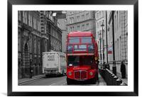 London Red Bus, Framed Mounted Print