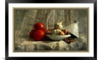 Tomatoes and Garlic, Framed Mounted Print