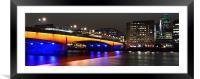 London Bridge 2, Framed Mounted Print