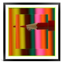 Coloured Pencils, Framed Mounted Print