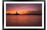 Sunset over the Grand Canal, Venice., Framed Mounted Print