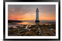 New Brighton Sunset, Framed Mounted Print