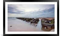 INCOMING TIDE New Brighton Beach, Framed Mounted Print