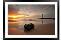 SUNSET AT THE ROCK ( New Brighton ), Framed Mounted Print