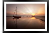 """Rays of Light"" Meols Beach, Framed Mounted Print"
