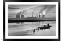 Fiddlers Ferry Power Station, Framed Mounted Print