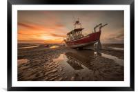 Meols Sunset, Framed Mounted Print