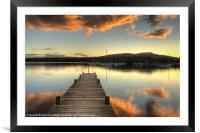On Windermere, Framed Mounted Print