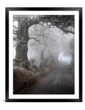 frosty morning in the lane, Framed Mounted Print