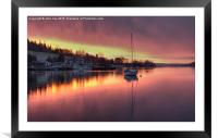 Water Edge View, Framed Mounted Print