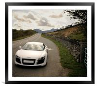 Audi R8 Snowdonia Colour, Framed Mounted Print