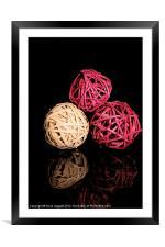 3 Spheres, Framed Mounted Print