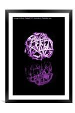 Sphere 2, Framed Mounted Print