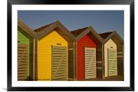 Beach Huts in bright sunshine, Framed Mounted Print