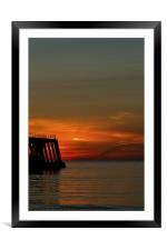 Dawn of a new day, Framed Mounted Print
