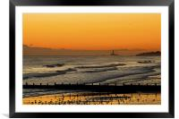 Waiting for sun rise, Framed Mounted Print