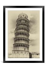 Leaning Tower of Pisa, Framed Mounted Print