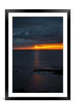 Sun rise over the North Sea, Framed Mounted Print