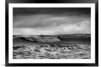 Rough sea and stormy sky, Framed Mounted Print
