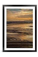 On Golden Sea, Framed Mounted Print
