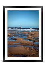 February on the beach, Framed Mounted Print