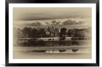 Seaton Delaval Hall in sepia, Framed Mounted Print