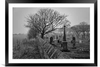 Mist over the Cemetery, Framed Mounted Print