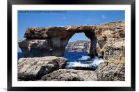 The Azure Window, Framed Mounted Print